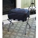 Pressto Valet PVLR04 Hotel Luggage Rack, Hammertone, w/ Bumper (Case of 4)