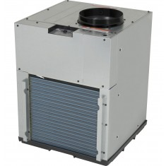 "alt=""GE AZ95H09DAC Vertical Hotel Heat Pump Angled"""
