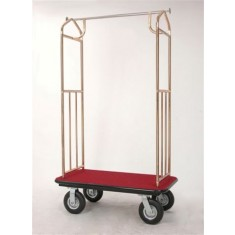 "alt=""Pressto Valet PVBC02 Hotel Bellmans Cart Brass Plated"""