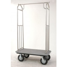 "alt=""Pressto Valet PVBC03 Hotel Bellmans Cart in Stainless Steel"""