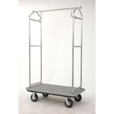 "alt=""Pressto Valet PVBC01 Hotel Bellmans Cart Chrome Plated"""